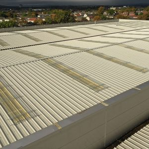 Kee Cover protection for fragile roof lights and skylights on industrial roofs