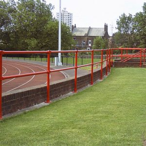 Kee Klamp safety railings for sports facilities